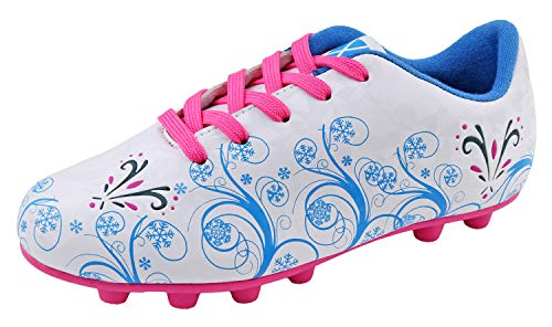 Vizari Girls Frost Soccer Shoes 90039Frost White/Pink 8