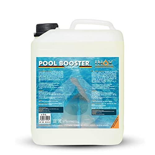INOX® Pool Booster - 5L - Effektiver Algenvernichter Pool - Flüssiges Algizid für Pool - desinfizierendes Reinigungsmittel gegen Algen - Hochwirksame Pool Chemie