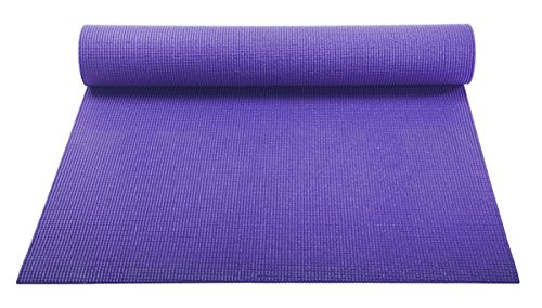 "Yoga Mat - With Carry Strap -Great Pilates And Exercise Mat With Carry Sling -Save on Yoga Mat Bag-Best Classic Yoga Mat - 1/8"" (3mm) Thick -Great Workout Mats For Women Kids And Men- Eco Friendly- Best Non-Slip Yoga Mat for Carpet, Home And Travel-On Sale-100%! (Purple)"