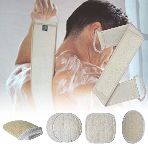 mreechan Luffaschwämme Rückenschrubber,luffa schwamm,handschuh Luffa und Loofah pad für Bad und Dusche, 100{6eb4ca36d50f7630a860e7e293347995cc6a2f15bdb7dfaaca6eeec9f95c1149} Luffa Natur Schwamm für Duschen, Körper und Gesichts Peeling, Durchblutung