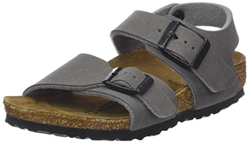 BIRKENSTOCK Jungen New York Sandalen, Grau (Dark Gull Grey), 33 EU