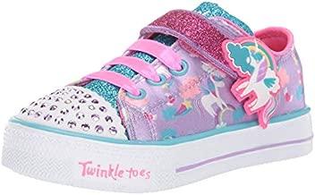 Skechers Kids Girls' Shuffle LITE Sneaker, Lavendar/Multi, 6 Medium US Toddler