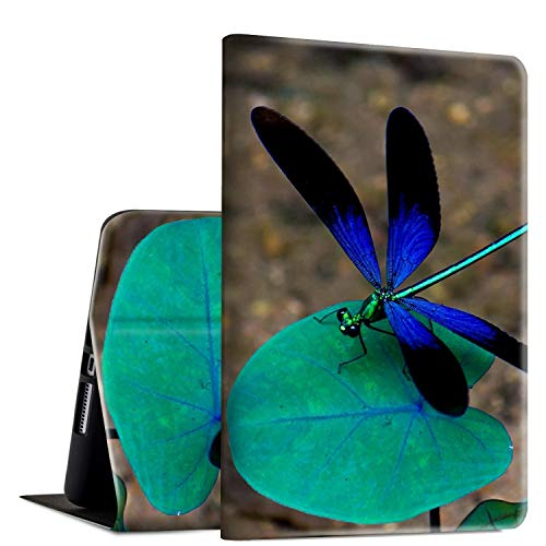 iPad Mini 4 Case, Rossy PU Leather Folio Smart Cover TPU Shock Protection Case with Adjustable Stand & Auto Wake/Sleep Feature for Apple iPad Mini 4th Generation 2015,Blue Dragonfly