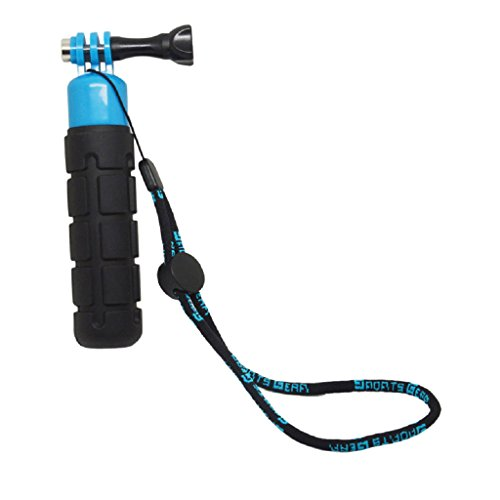 perfk Selfie Self Stick Pole Handle Monopod Impermeable para Cámara Hero Y SLR - Azul