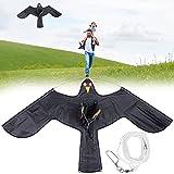 YIPUTONG Bird Kite Garden Scarecrow 120CM / 140CM Repelente de Aves Simulación Repelente de Aves Dispositivo de espantapájaros Cometa Ahuyentador de Aves para jardín Granja