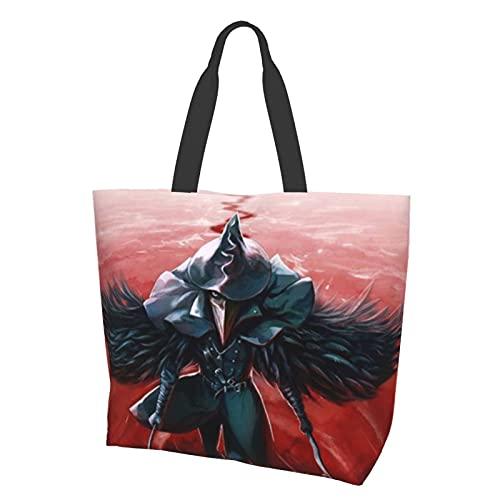 Bloodborne - Bolsas de hombro para mujer, de moda, de viaje, escuela, de lona, de compras, de viaje, de alta capacidad