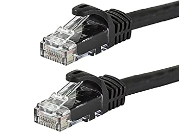 Monoprice Flexboot Cat6 Ethernet Patch Cable - Network Internet Cord - RJ45 Stranded 550Mhz UTP Pure Bare Copper Wire 24AWG 10ft Black