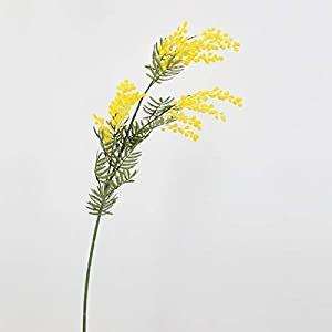 FDQNDXF 6 Bunches of Artificial Mimosa, Realistic Mimosa Bouquets for Family Wedding Party DIY Flower Party Accessories Craft Jewelry Decoration,Yellow