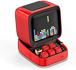 MJPA Retro Pixel Art Bluetooth Portable Speaker Alarm Clock DIY LED Screen by APP Electronic Gadget Gift Home Decoration (...