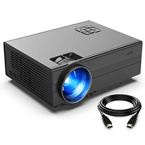 Beamer, FunLites Video Projektor, Portable Mini Beamer, unterstützt 1080P, Schwarz