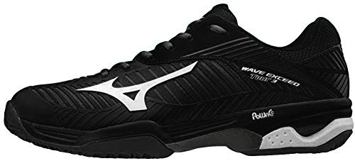 Mizuno Wave Exceed Tour 3Cc, Zapatillas para Hombre, Multicolor (Black/White/Magnet 001), 44.5 EU