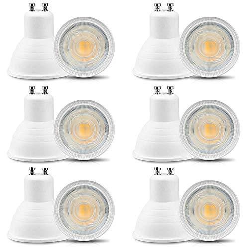 Jenyolon GU10 LED Lampen Warmweiss 6W 220-240V, 3000K, 600Lm, Ersatz für 50-60W Halogenlampen Glühlampen, GU10 LED Leuchtmittel klein Birne Spot Licht, 30°Abstrahlwinkel, 12er Pack