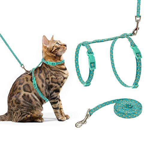 cat leashes PUPTECK Cat Harness and Leash Set - Cute Summer Fruit Harness for Cats with Adjustable Soft Strap Escape Proof for Outdoor Walking
