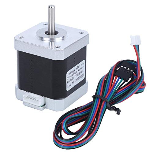 Durlclth Stepper Motor-NEMA 17 Stepper Motor 3D Printer Accessories with 4 Pin Cable 17HS8401