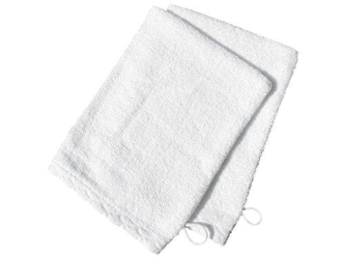 Set di 2 guanti da bagno ANTIQUE Bianco