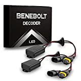 BENEBOLT 9005 9006 9012 LED Decoder with Anti Flicker Resistor - Solves CANBUS problems Ra...