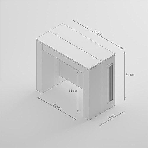 Mobili Fiver, Mesa Consola Extensible con Porta-Extensiones, Easy ...
