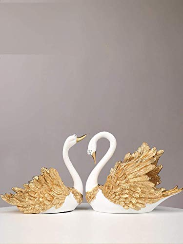 Tyannan Creative Statue Decoration Statue Sculpture Ornaments Statues Nordic Swan Decoration Home Creative Modern Wine Cabinet Decoration Living Room Simple Crafts Wedding New Wedding