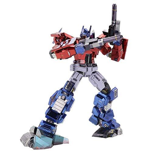 Puzle 3D Transformers Optimus Prime, 3D Puzzles Modelo DIY Ensamble Rompecabezas Metal 3D Kit de Construcción para Adultos - Transformers Optimus Prime IDW Version, 180 x 100 x 190 mm