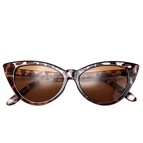 Ballylelly Moda Mujer señoras Ojo de Gato clásico Estilo Vintage Rockabilly Gafas de Sol Gafas Mujer Accesorios para Gafas