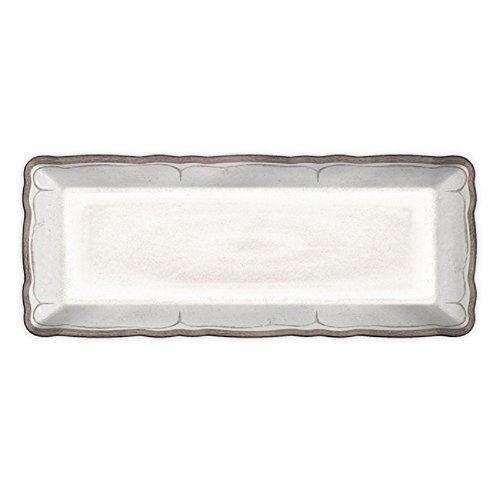 Le Cadeaux 298RUAW rustykalna biała taca na bagietki, melaminowa