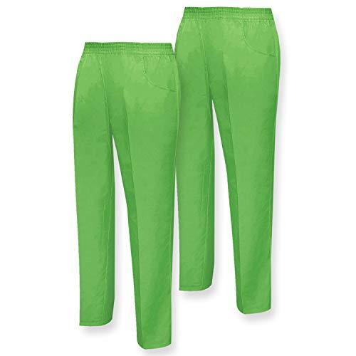 MISEMIYA Pantalón Sanitarios Unisex Lavoro, Verde (Verde Manzana 18), XX-Large (Taglia Produttore: XXL Cintura 76centimeters-128centimeters) (Pacco da 2) Uomo