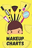 Makeup Charts: Face Artist Notebook, Practice Book. Paint, Contour and Blush Diary For Professional Makeup Artists, Girls, Women, Men and Boys. Gift for girlfriend and wife. 6x9. 109 pages.