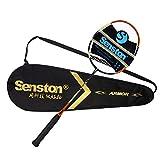 Senston Badminton raquette graphite raquette de badminton de haute qualité - y compris 1 sac de badminton/1 raquette de badminton - jaune