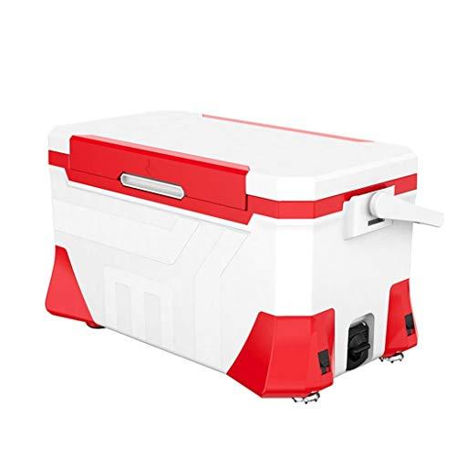 BYDBNR Angelkasten, Angeln Eimer Fischbox Angelzubehör Tragbarer Werkzeugkasten Zur Aufbewahrung Von Angelzubehör (Farbe : Rot)