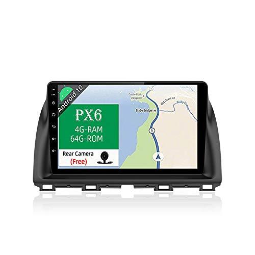 JOYX PX6 Android 10 Autoradio Passt für Mazda CX-5 (2013-2016) - [4G64G] - Rückfahrkamera Canbus KOSTENLOS - IPS 10.1 Zoll2 Din - Unterstützen DAB Lenkradsteuerung 4G WiFi BT4.0 Carplay 4K-Video HDMI