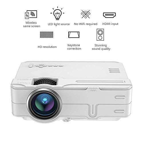 Mini proyector 4K Ultra HD Misma Pantalla proyector Smart WiFi proyector inalámbrico Mini portátil de Cine en casa es Compatible con Dispositivos de Almacenamiento Externo LMMS ( Color : - )