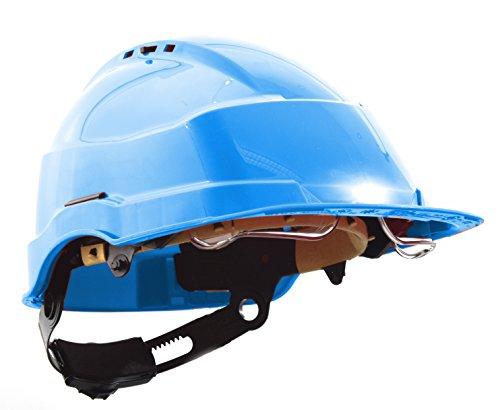 Schutzhelm Iris2 Helm mit Brillen-Maske (unisize, blau)