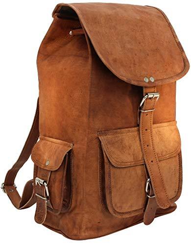 Gusti Lederrucksack Rucksack Outdoorrucksack Cityrucksack Vintage Braun Leder
