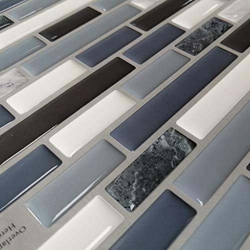 Profesticker Fliesenaufkleber Selbstklebende Klebefolie 3D Fliesen Klebefliesen Fliesendekor Fliesenfolie Bordüre Mosaikfliesen Wasserdicht Küche Bad (Marmor Blau, 9)