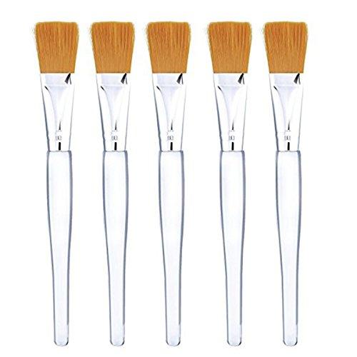 Frcolor Peau masque Facial doux brosse maquillage pinceaux cosmétiques outils Pack de 5pcs(Golden)