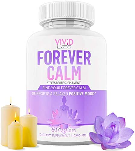 Forever Calm Natural Happy Pills 10x Anti Anxiety Relief Depression Supplement Dopamine Mood product image