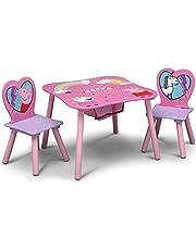 طقم الطاولة والكراسي للأطفال مع مساحة تخزين من دلتا تشيلدرن