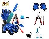 Brosse Anti Poils Animaux Kit Toilettage Magique avec 2 Gant Peigne Anti Poil Chien et Chat: Efficace sur Vetement, Tapis, Canapé, Coussin, Couverture, Lit. Cadeau Offert Lot Coupe Griffe