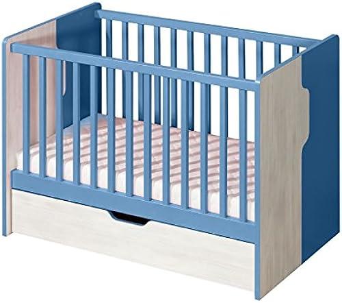 Gitterbett Justus 10, Farbe  Kiefer Blau - Liegefl e  60 x 120cm   (B x L)