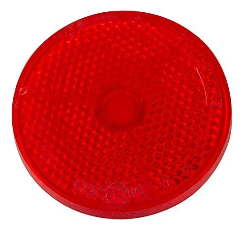 Rückstrahler | rund | rot | Ø 60 mm | zum Aufkleben | Reflektor | Trecker | Aufkleber | Strahler