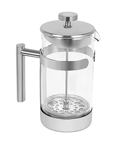 Internet's Best Stainless Steel French Press - 34 Oz - Coffee Maker Glass Body