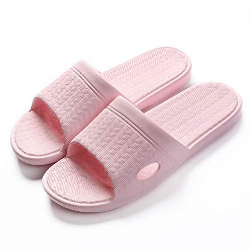 MQQM Sommer Home Slippers,rutschfeste Paar Sandalen mit weichem Boden, Sommer-Badeschuhe-Pink 8_39-40,Unisex Dusche Badeschuhe Hausschuhe