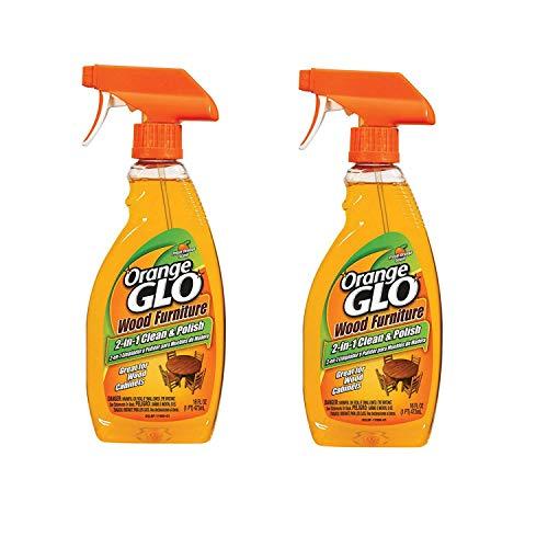 Orange Glo Lot de 2 produits nettoyant 2-en-1 pour meuble en bois, 473 ml
