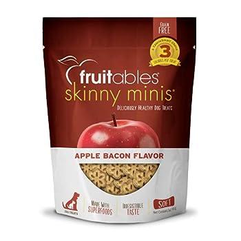Fruitables Skinny Mini Dog Treats | Healthy Treats for Dogs | Low Calorie Training Treats | Free of Wheat Corn and Soy | Apple Bacon | 5 Ounces