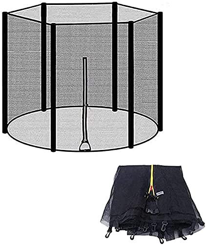 WXking Reemplazo de Red para Trampolines Net de Seguridad para Trampolines Ø 244 cm 6 Barras - Negro