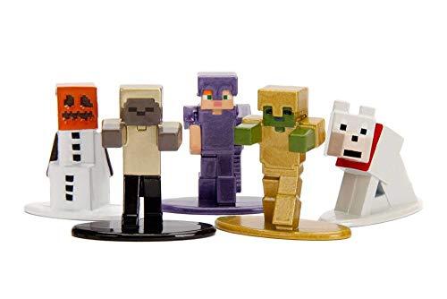 Minecraft MC17 Snow Golem, MC14 Zombie in Gold Armor, MC18 Alex in Enchanted Armor MC16 Tamed Wolf,