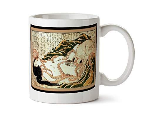 Not Applicable Traum von der Frau des Fischers Octopus Katsushika Hokusai Japanische Erotik Kunst Kaffee Teebecher (Weiß)