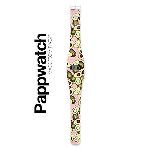 GUACAMOLE - Pappwatch - Paperlike Watch - Digitale Armbanduhr im trendigen Design - aus absolut reissfestem und wasserabweisenden Tyvek® - Made in Germany, absolut reißfest und wasserabweisend