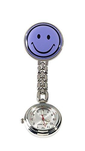 Ansteckuhr, Pulsuhr, Schwesternuhr, Uhr mit Sekundenzeiger (flieder)