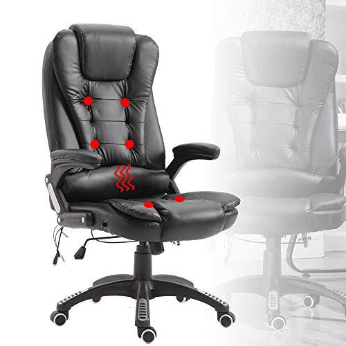 Froadp - Sillon de masaje ergonomico, altura regulable, silla de oficina, silla de escritorio, silla de gaming, capacidad de carga 150 kg